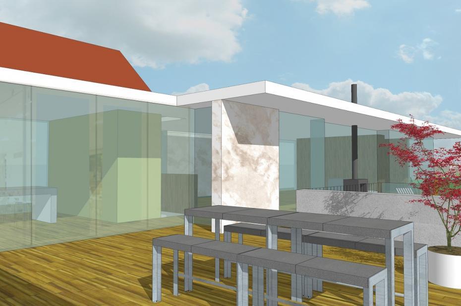 Uitbreiding woonhuis landgoed burgst breda rinus roovers architectuur - Uitbreiding huis glas ...