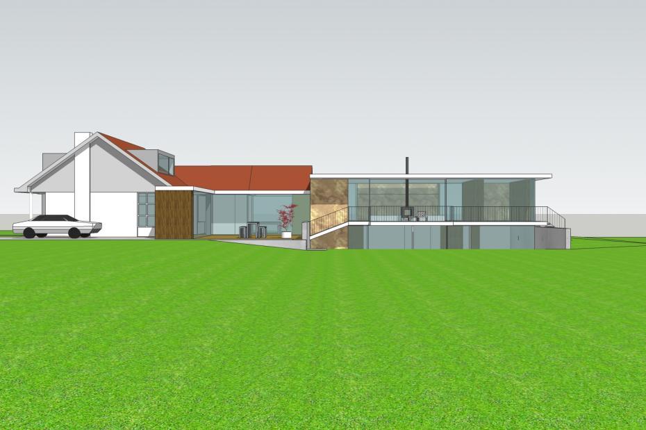 Uitbreiding woonhuis landgoed burgst breda nouwens roovers architectuur - Uitbreiding huis glas ...